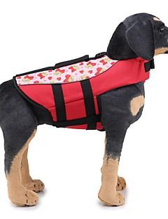 billiga Hundkläder-Hund Livväst Hundkläder Enfärgad / Klassisk Orange / Grön Tyg Kostym För husdjur Unisex Unik design / Ledig / Sportig