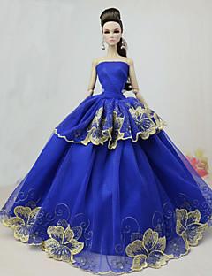 Fiesta   Noche Vestidos por Muñeca barbie Poliéster Vestido por Chica de  muñeca de juguete 667ab3b08fb9