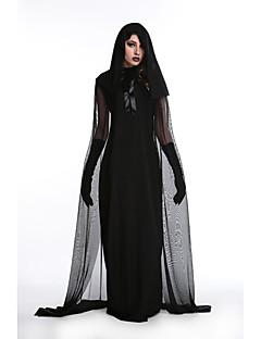 Χαμηλού Κόστους Κοστούμια για Ενήλικες-Μάγος Φορέματα Στολές Ηρώων Γυναικεία Ενηλίκων Mesh Halloween Halloween Γιορτές / Διακοπές Κοστούμια Halloween Στολές Μαύρο Βουάλ & Διαφανή Halloween