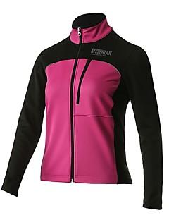 billige Sykkelklær-Mysenlan Dame Sykkeljakke Sykkel Jersey / Topper Fleecefor, Hold Varm Klassisk Polyester Rose Rød Sykkelklær