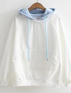 tanie Damskie bluzy z kapturem-Damskie Moda miejska Bluza z Kapturem - Solidne kolory
