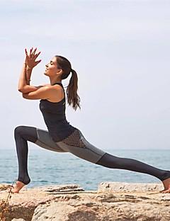 billiga Träning-, jogging- och yogakläder-Dam Lappverk Yoga byxor - Svart Kombo sporter Rutigt / gingham Cykling Tights Fitness Sportkläder Snabb tork, Svettavvisande Hög Elasisitet Skinny
