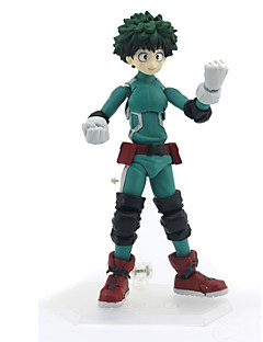 billige Anime cosplay-Anime Action Figurer Inspirert av My Hero Academy Battle For All / Boku no Hero Academia Midoriya Izuku PVC 12 cm CM Modell Leker Dukke