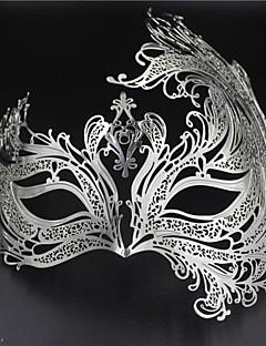 billige Halloweenkostymer-Prinsesse Venetiansk maske Masquerade Mask Dame Voksne Halloween Jul Halloween Maskerade Festival / høytid Drakter Blå / Gylden / Mørkegrønn Gitter / Teppe Metallfinish