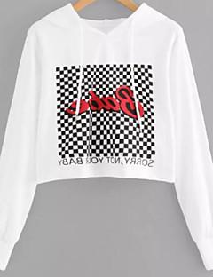 tanie Damskie bluzy z kapturem-Damskie Moda miejska Bluza z Kapturem - Geometric Shape
