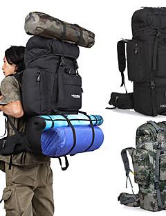 billiga Ryggsäckar och väskor-85 L Ryggsäck - Regnsäker, 3D Tablett, Anatomisk design Utomhus Camping, Militär, Resor oxford Svart, Kamoflage, Khaki grön