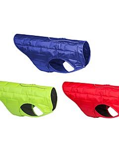 billiga Hundkläder-Hund / Katt Väst Hundkläder Enkel / Klassisk Röd / Grön / Blå Ner Kostym För husdjur Herr / Dam Ledigt / vardag / Håller värmen / Justerbara