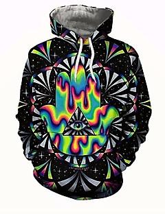 billige Hættetrøjer og sweatshirts til herrer-Herre Basale Hattetrøje - 3D, Trykt mønster