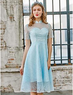 tanie Sukienki na zakończenie szkoły-Krój A Wysoki Do kolan Z cekinami Sukienka z Cekin przez LAN TING Express / Iluzja