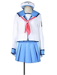 """billige Anime Kostymer-Inspirert av AngelBeats Cosplay Anime  """"Cosplay-kostymer"""" Cosplay Klær Fargeblokk / Helfarge / N / A N / A / Halsklut / Skjørt Til Unisex"""