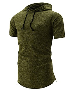 tanie Miesten hupparit ja collegepuserot-męska bluza z kapturem z długimi rękawami i bawełną - z kapturem