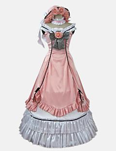 """billige Anime cosplay-Inspirert av Svart Tjener Charles Grey Anime  """"Cosplay-kostymer"""" Kjoler Animé / Sløyfeknute Ermeløs Sløyfe / Hatt / Nakkeklær Til Dame / Satin"""