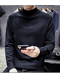 tanie Męskie swetry i swetry rozpinane-Męskie Podstawowy Pulower Solidne kolory
