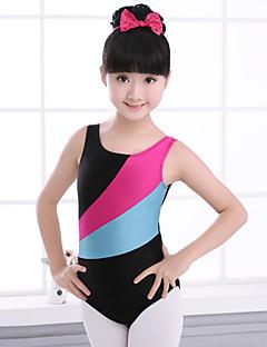 tanie Dziecięca odzież do tańca-Balet Topy Dla dziewczynek Szkolenie Spandeks Materiały łączone Bez rękawów Wysoki Trykot opinający ciało / Śpiochy dla dorosłych