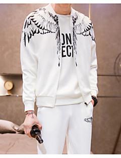 billige Hættetrøjer og sweatshirts til herrer-Herre plus størrelse langærmet sweatshirt - solid farvet rund hals
