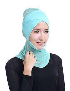 billige Bikinier og damemote 2017-Dame Vintage / Grunnleggende Hijab - Netting, Ensfarget