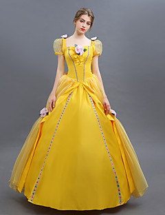 billige Halloweenkostymer-Prinsesse Cosplay Kostumer Party-kostyme Dame Halloween Karneval Festival / høytid Drakter Ensfarget