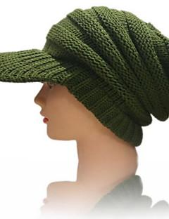 billige Hatter til damer-Dame Grunnleggende Baseballcaps Ensfarget