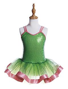 tanie Stroje baletowe-Balet Sukienki Dla dziewczynek Szkolenie / Spektakl Poliester / Spandeks / Z cekinami Dżety Bez rękawów Sukienka