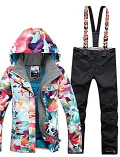 billiga Skid- och snowboardkläder-GSOU SNOW Dam Skidjacka och -byxor Skidglasögon, Skidåkning, Vintersport Vintersport POLY Klädesset Skidkläder