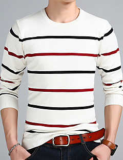 baratos Suéteres & Cardigans Masculinos-Homens Moda de Rua Pulôver - Listrado