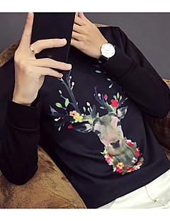 billige Hættetrøjer og sweatshirts til herrer-Herre Jul Langærmet Rund hals Sweatshirt - Dyr