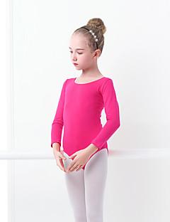 billige Danseklær til barn-Ballet Trikoter Jente Trening / Ytelse Elastan / Lycra Sløyfe(r) Langermet Trikot / Heldraktskostymer