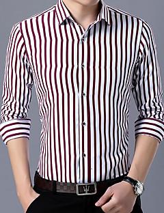 tanie Koszule-koszula plus size męska - klasyczny kołnierzyk w paski