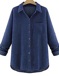 billige Skjorte-Dame - Ensfarvet Gade Skjorte