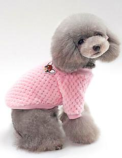 billiga Hundkläder-Hund / Katt Tröjor Hundkläder Enfärgad Blå / Rosa Cotton Kostym För husdjur Unisex Håller värmen / Fritid