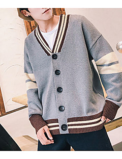 baratos Suéteres & Cardigans Masculinos-Homens Básico Carregam - Sólido, Patchwork