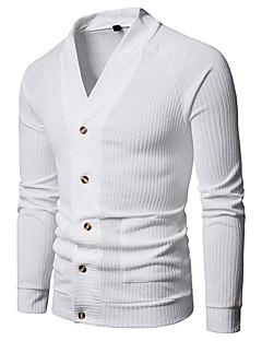 baratos Suéteres & Cardigans Masculinos-Homens Básico / Moda de Rua Carregam - Sólido / Poá