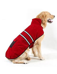billiga Hundkläder-Hund / Katt Dunjackor Hundkläder Rand Röd Plysch Kostym För husdjur Unisex Vanlig / Fritid