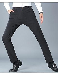 billige Herrebukser og -shorts-Menns bomullsslanke chinosbukser - solidfarget