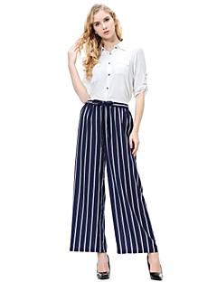 billige Herrebukser og -shorts-kvinners løse chinos / brede benbukser - stripet / solid farget vin