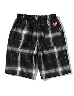 billige Herrebukser og -shorts-Herre Grunnleggende Shorts Bukser - Ruter Hvit