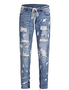 billige Herrebukser og -shorts-menns bomull løs jeans bukser - solid farget