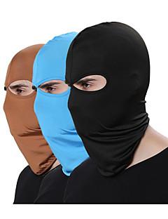billige Sykkelklær-Ansiktsmaske Alle årstider Fukt Wicking / Pusteevne / Støvtett Utendørs Trening / Alpin / Sykkel Alle Polyester / Spandex Ensfarget / Mikroelastisk