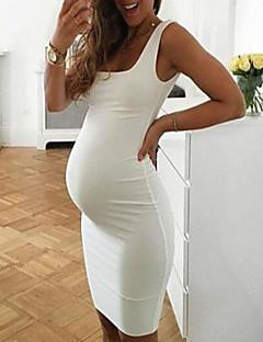 tanie Sukienki-Damskie Elegancja Pochwa Sukienka - Solidne kolory Midi