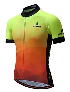 billige Sykkelklær-Miloto Herre Kortermet Sykkeljersey - Genialt Sykkel Jersey 100% Polyester / Elastisk