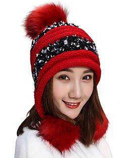billige Hatter til damer-Dame Grunnleggende Beanie Hatt / Beret / Solhatt Fargeblokk
