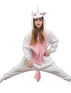 billige Kigurumi-Enhjørning Onesie-pysjamas Polar Fleece Rosa Cosplay Til Gutter og jenter Pysjamas med dyremotiv Tegnefilm Festival / høytid kostymer