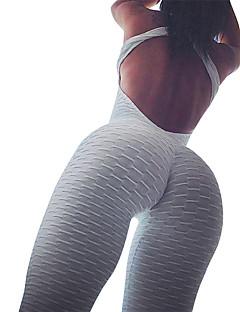 billiga Träning-, jogging- och yogakläder-Dam Ruched Butt Lifting Byxdress / Jumpsuit - Himmelsblå, Marinblå, Vinröd sporter Ensfärgat Elastan Hög midja Leggings / Kroppsdräkt Yoga, Gym, Träna Ärmlös Sportkläder Push up-byxor, Magkontroll