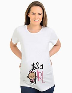 tanie Topy-T-shirt Damskie Moda miejska Litera