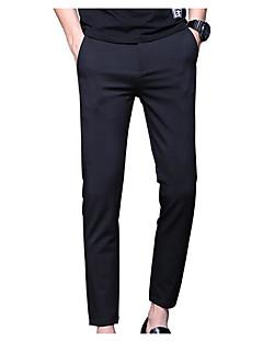 billige Herrebukser og -shorts-menns slanke chinosbukser - solid farget svart 28