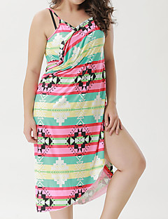 b47bb547b9 Women s Basic Rainbow Cheeky Cover-Up Swimwear - Geometric   Color Block  Print XXXL XXXXL XXXXXL
