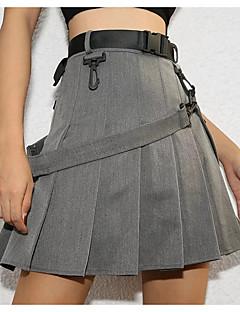 tanie Garderoba dolna damska-Damskie Moda miejska Linia A Spódnice Solidne kolory