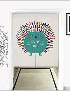 billige Mørkleggingsgardiner-Dørpanelet Gardiner Gardiner Stue Tegneserie Poly / Bomull Blanding Trykket & Jacquard