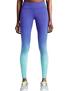 billige Løbetøj-Dame Lomme Løbetights - Blå Sport Mode, Farvegradient Leggins Yoga, Træning & Fitness, Træningscenter Sportstøj Letvægt, Åndbart, Hurtigtørrende Høj Elasticitet