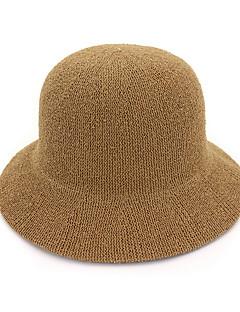 billige Hatter til damer-kvinners polyester floppy hat - solid farget